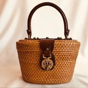 John Romain Vintage 60s Basket Nantucket Style Bag